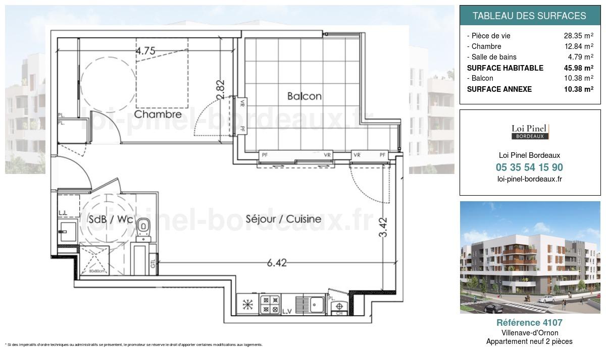 Plan de la résidence