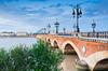 Rive droite Bordeaux - vue sur le pont Saint-Pierre à Bordeaux